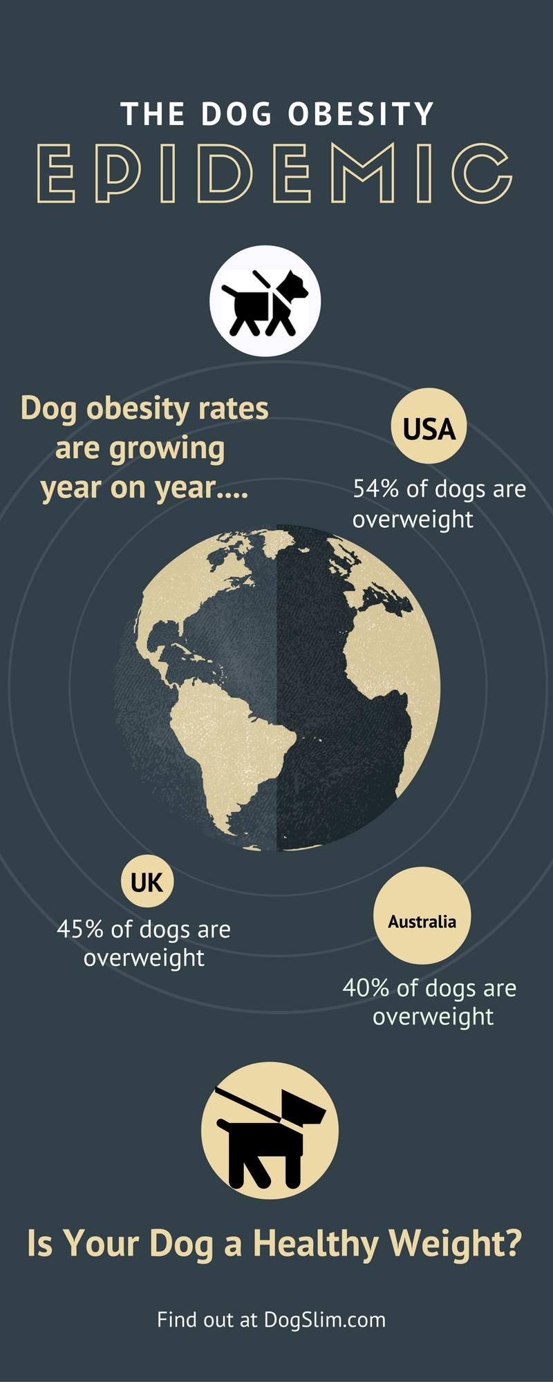 The dog obesity in USA, Australia